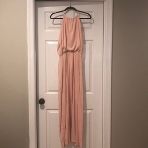 Long peach dress
